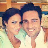 David Bustamante y Paula Echevarría en la Primera Comunión de su sobrina Leire