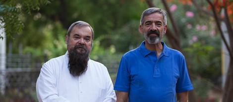 Imanol Arias y Carles Canut en el rodaje de 'Vicente Ferrer'