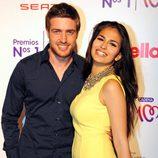 Raúl Mérida y Sara Sálamo en la entrega de los Premios Nos 1 de Cadena 100