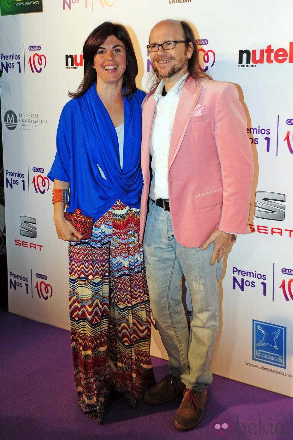 Samanta Villar y Santiago Segura en la entrega de los Premios Nos 1 de Cadena 100
