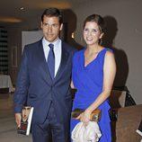 Luis Alfonso de Borbón y Margarita Vargas en la presentación del libro 'Enrique Ponce, un torero para la historia'