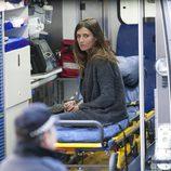 Elia Galera en una ambulancia en la grabación de 'El Príncipe'