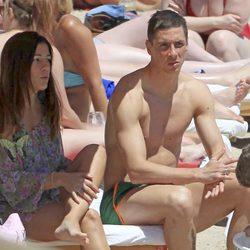 Fernando Torres y Olalla Domínguez, de vacaciones en Ibiza