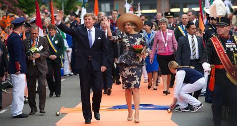 Guillermo Alejandro y Máxima de Holanda en Utrecht