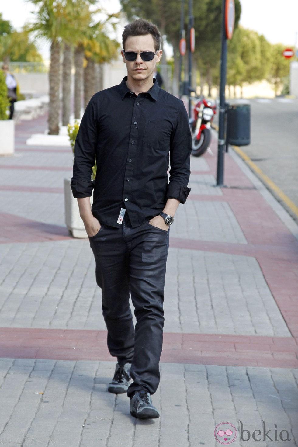 Christian Gálvez en el tanatorio de Mario Biondo