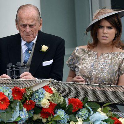 El Duque de Edimburgo y Eugenia de York en el Derby de Epsom 2013