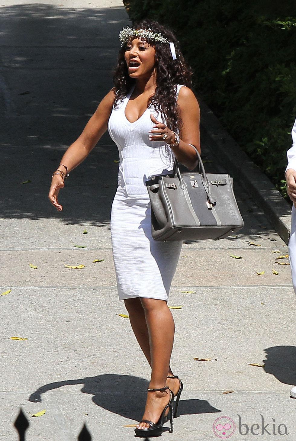 Mel B acude al Baby Shower de Kim Kardashian en Beverly Hills