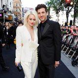 Kimberly Wyatt y Max Rogers en la premiere de 'Guerra Mundial Z' en Londres