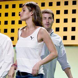 Iker Casillas y Sara Carbonero en presentación de la Copa Confederaciones 2013