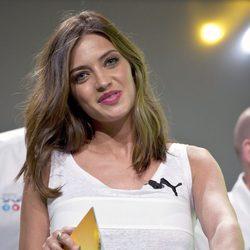 Sara Carbonero en la presentación de la Copa Confederaciones 2013