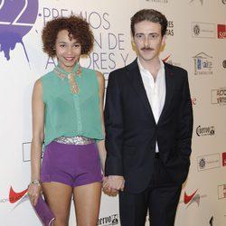 Montse Pla y Victor Clavijo en la alfombra roja de los Premios Unión de Actores 2012