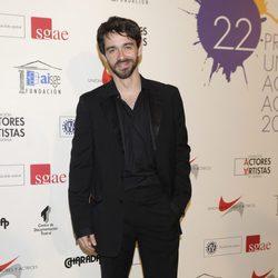 Alberto Amarilla en la alfombra roja de los Premios Unión de Actores 2012