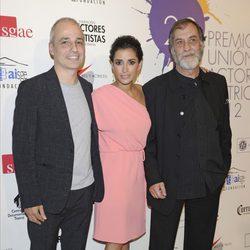 Pablo Berger, Ramón Barea e Inma Cuesta en la alfombra roja de los Premios Unión de Actores 2012