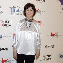 Julieta Serrano en la alfombra roja de los Premios Unión de Actores 2012