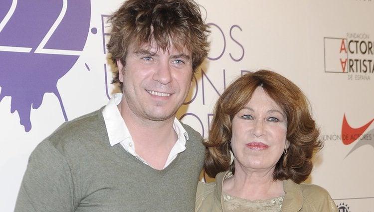 María José Goyanes y Javier Collado en la alfombra roja de los Premios Unión de Actores 2012