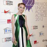 Marta Hazas en la alfombra roja de los Premios Unión de Actores 2012