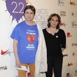 Alberto San Juan y Ada Colau en la alfombra roja de los Premios Unión de Actores 2012