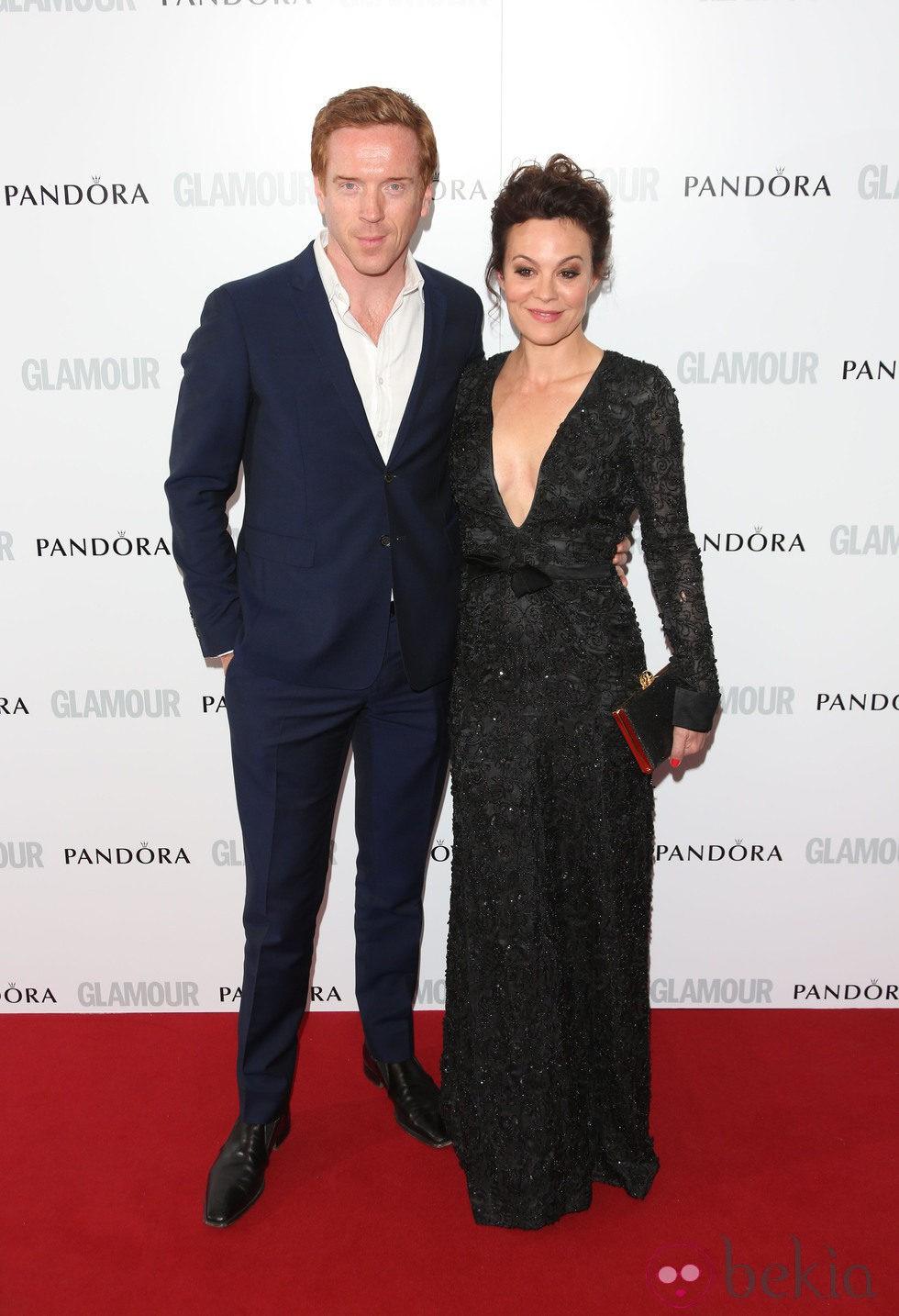 Damian Lewis y Helen McCrory en los Premios Glamour Mujer del Año 2013 en Londres