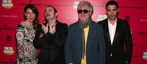 Blanca Suárez, Carlos Areces, Pedro Almodóvar y Miguel Ángel Silvestre presentan 'Los amantes pasajeros' en Nueva York