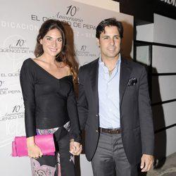 Lourdes Montes y Fran Rivera en el aniversario de un restaurante