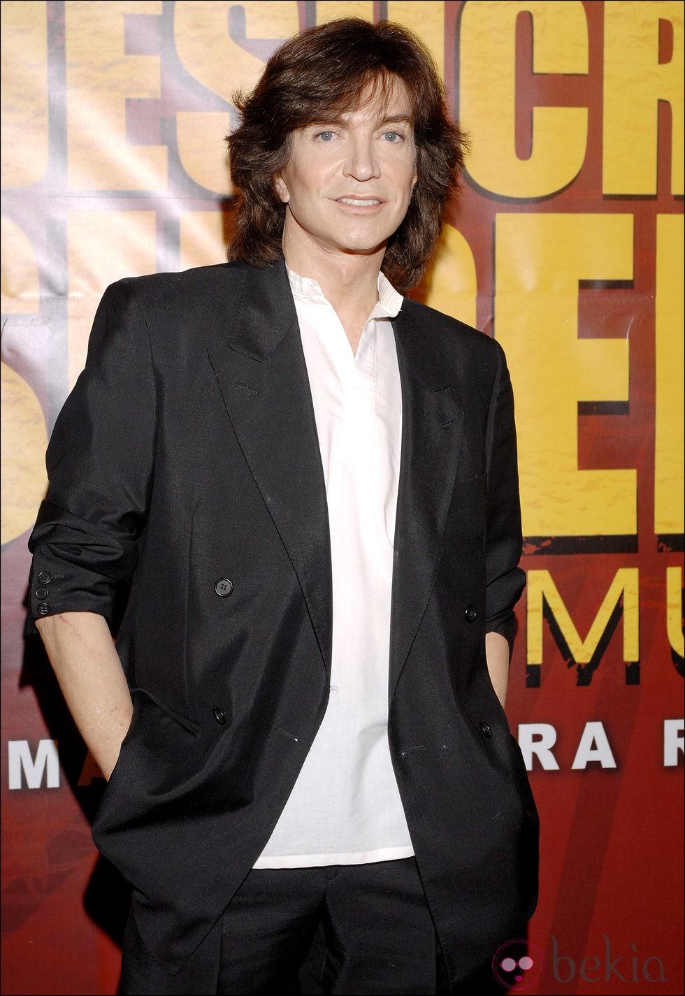 Camilo Sesto en el estreno del musical 'Jesuscristo Superstar'