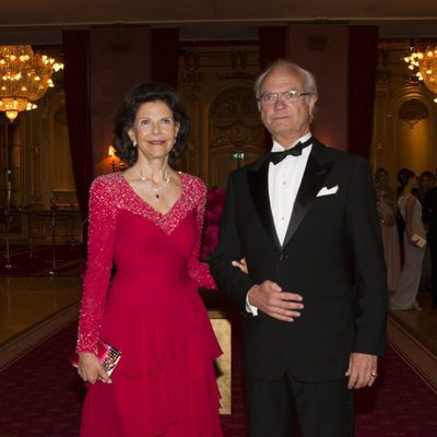 Carlos Gustavo y Silvia de Suecia en la cena previa a la boda de Magdalena de Suecia y Chris O'Neill