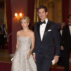 Pablo y Marie Chantal de Grecia en la cena previa a la boda de Magdalena de Suecia y Chris O'Neill