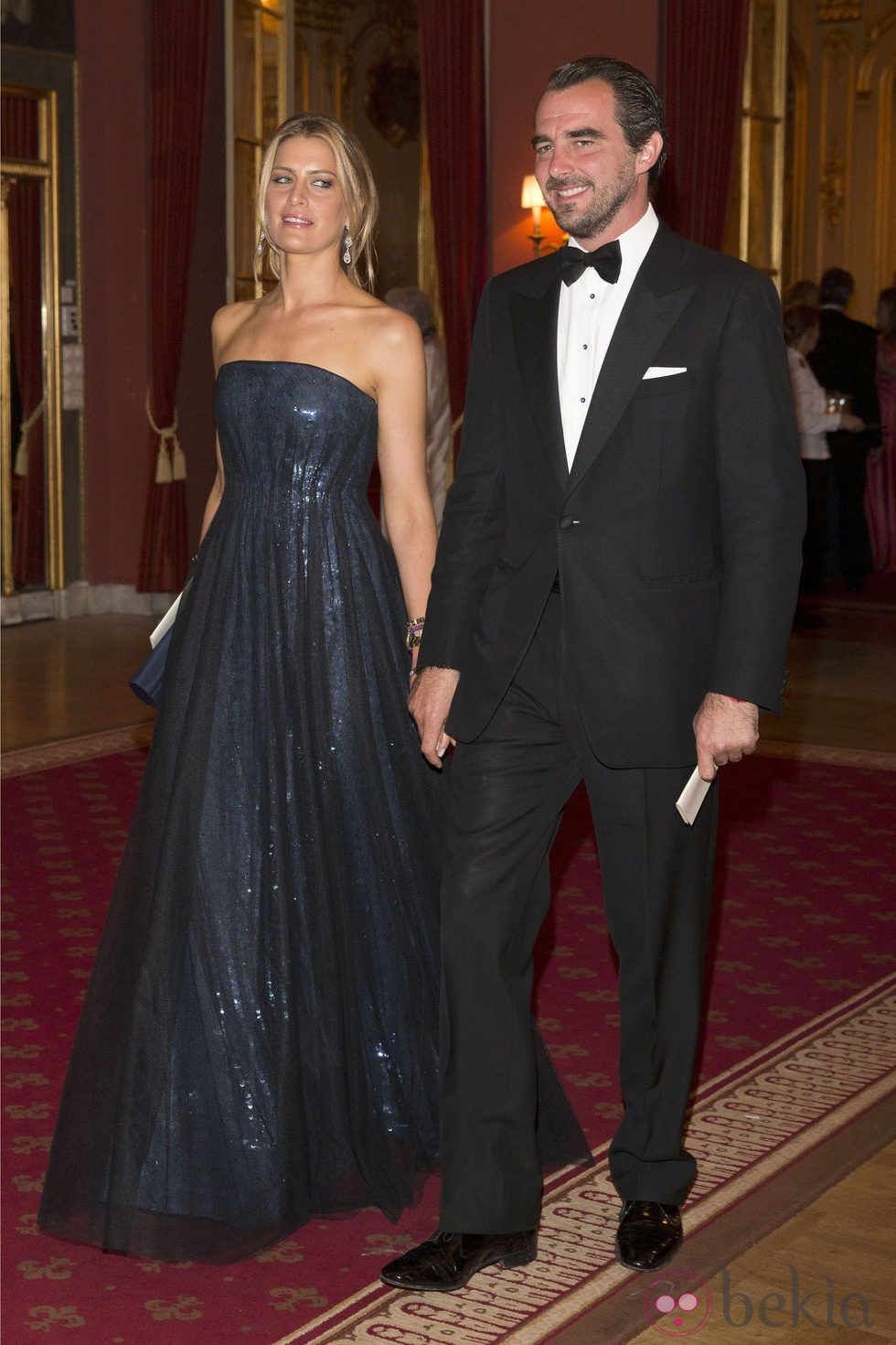 Nicolás y Tatiana de Grecia en la cena previa a la boda de Magdalena de Suecia y Chris O'Neill