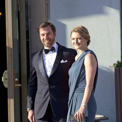 Guillermo y Stéphanie de Luxemburgo en la cena previa a la boda de Magdalena de Suecia y Chris O'Neill