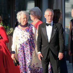 Cristina de Suecia y Tord Magnusson en la cena previa a la boda de Magdalena de Suecia y Chris O'Neill