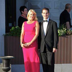 Theodora y Felipe de Grecia en la cena previa a la boda de Magdalena de Suecia y Chris O'Neill