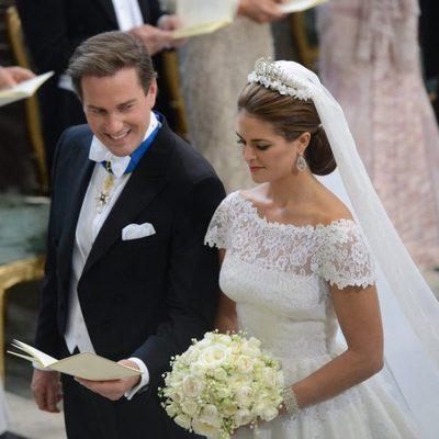 La Princesa Magdalena de Suecia y Chris O'Neill durante su boda