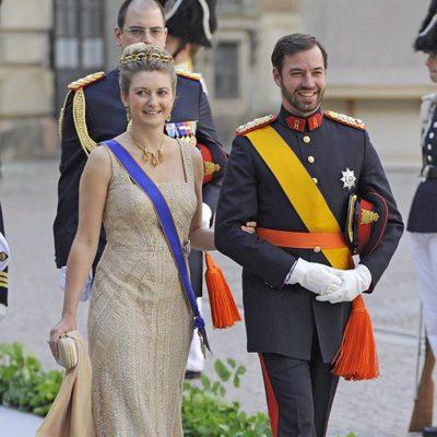 Los Príncipes Guillermo y Stéphanie de Luxemburgo en la boda de Magdalena de Suecia y Chris O'Neill