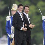 Luis Medina llegando al banquete de boda de Magdalena de Suecia y Chris O'Neill