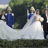 Magdalena de Suecia y Chris O'Neill llegan al Palacio de Drottningholm