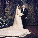 Fotografía oficial de la princesa Magdalena de Suecia y Christopher O'Neill