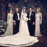 Fotografía oficial de la boda de la princesa Magdalena de Suecia y Christopher O'Neill