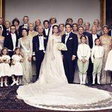 Fotografía oficial de la Casa Real Sueca tras la boda de la princesa Magdalena y Chris O'Neill