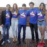Canco Rodríguez, Ana María Polvorosa, Adrián Lastra, Daniel Diges y Andrea Guasch en la presentación del musical 'Hoy no me puedo levantar'