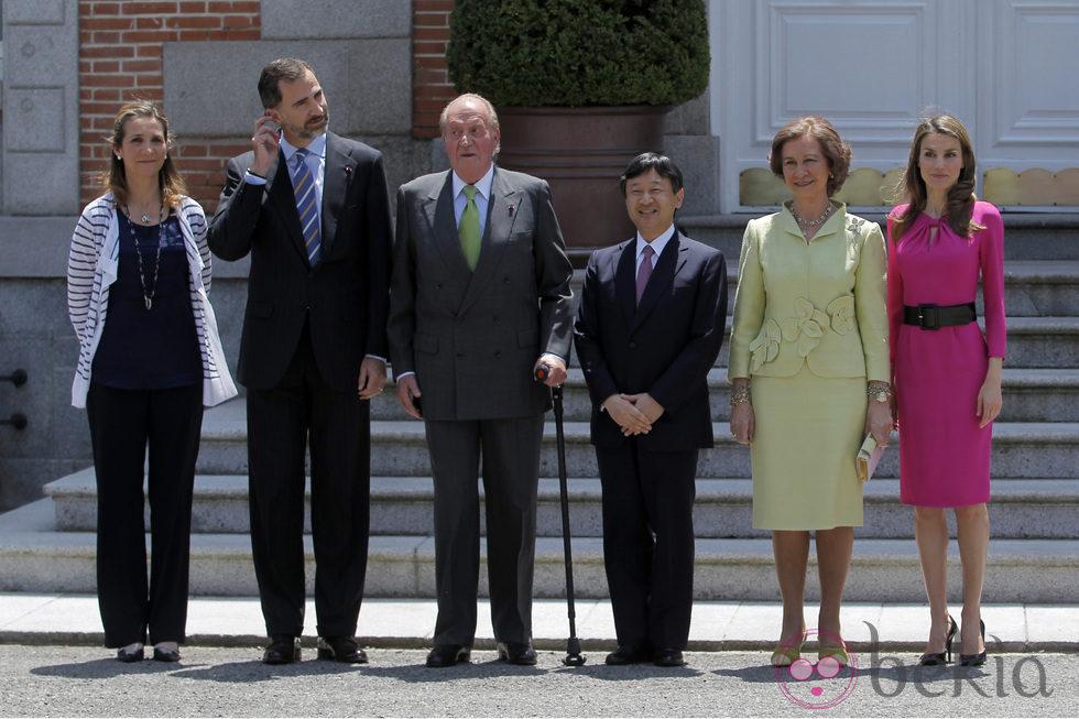 La Familia Real Española con Naruhito de Japón en Zarzuela