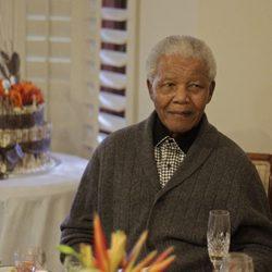 Nelson Mandela el día de su 93 cumpleaños