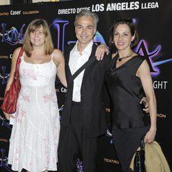 Marta Valverde, Alberto Vázquez y Natalia Millán en el estreno de 'Luma: Cirque of Light'