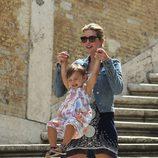 Ivanka Trump con su hija Arabella en Roma
