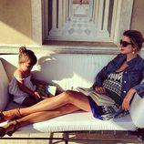 Ivanka Trump con su hija Arabella relajándose en Roma