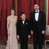 Los Príncipes de Asturias y Naruhito de Japón en la cena de gala en honor a Naruhito de Japón