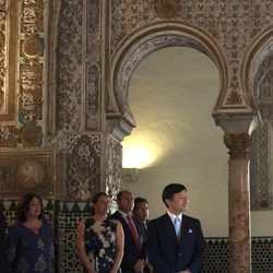 Naruhito de Japón en el Real Alcázar de Sevilla