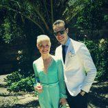 Soraya y Miguel Herrera en la boda de la prima de la cantante