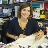 Sandra Barneda firmando ejemplares de su libro en la Feria del Libro de Madrid 2013