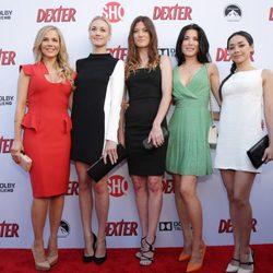 Elenco femenino de la serie Dexter en la presentación de la octava temporada