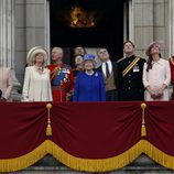 La Familia Real Británica en Trooping the Colour 2013